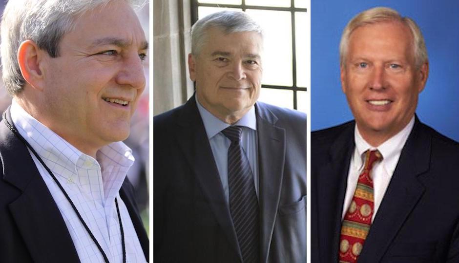 From left: Graham Spanier, Eric Barron, Ridney Erickson.