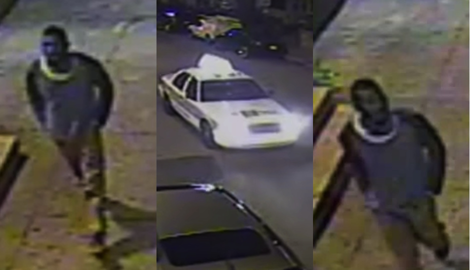The cab-stealing suspect and one of his new cars. (Philadelphia Police)