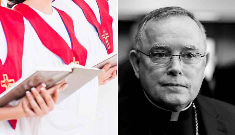 Choir photo | Shutterstock.com. Archbishop Charles Chaput | Jeff Fusco