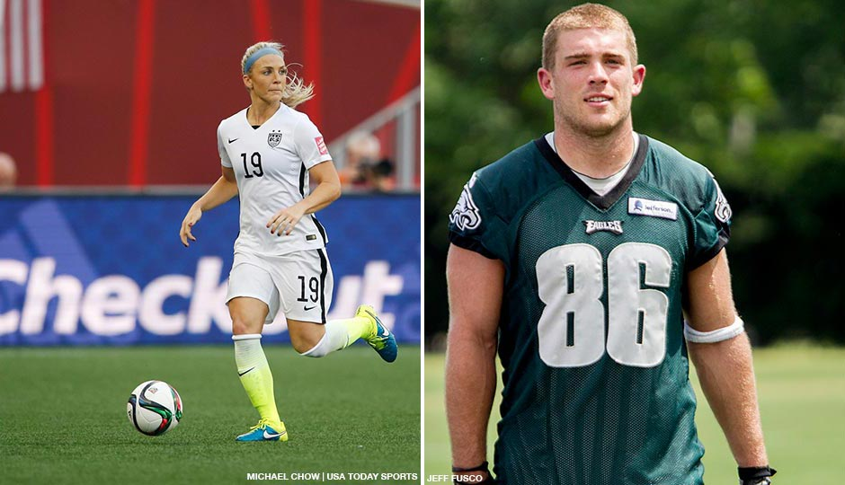 new concept 80bb4 22b5e Aw! Eagle Zach Ertz Is Dating U.S. World Cup Soccer Star ...
