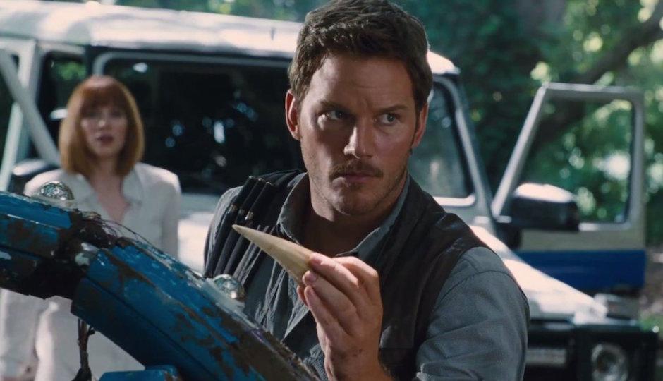 Chris Pratt in Jurassic World, hitting theaters TK.