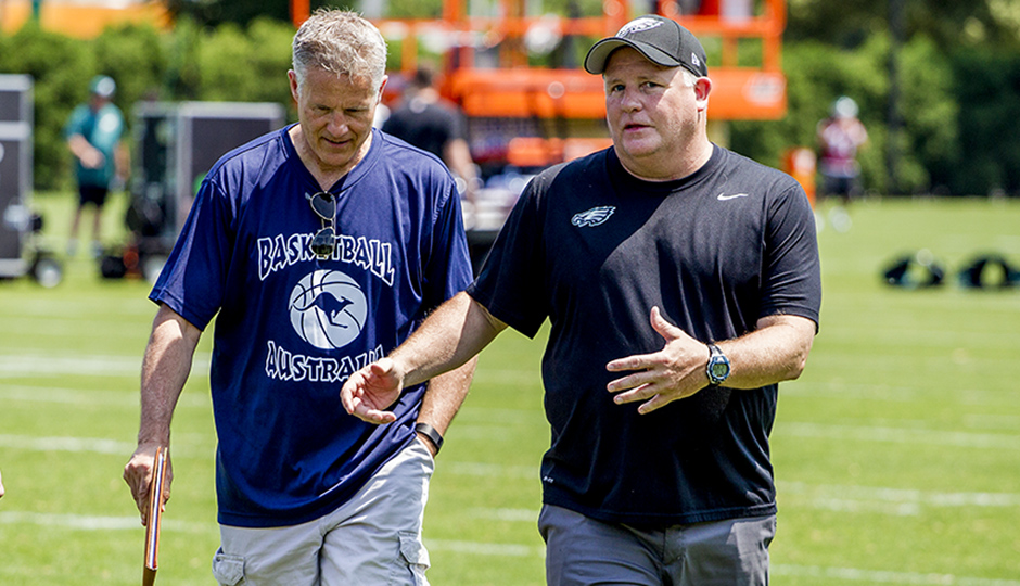 Brett Brown and Chip Kelly.