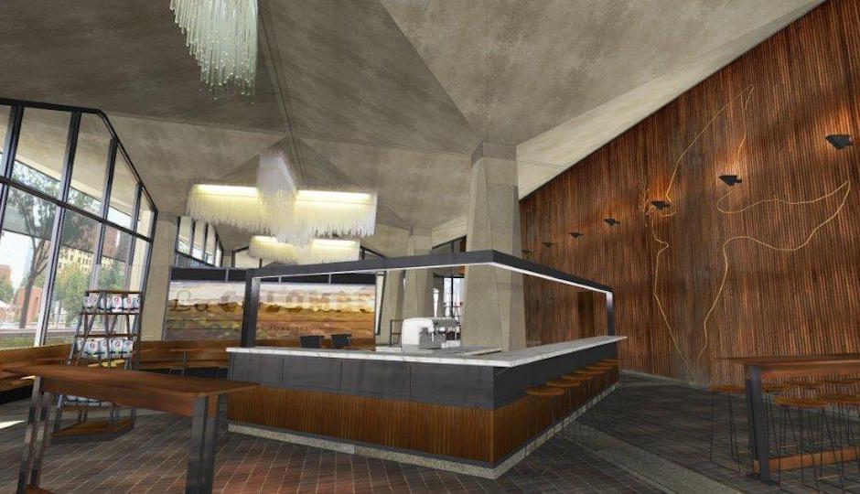 La Colombe at the Dow Building | Rendering: La Colombe