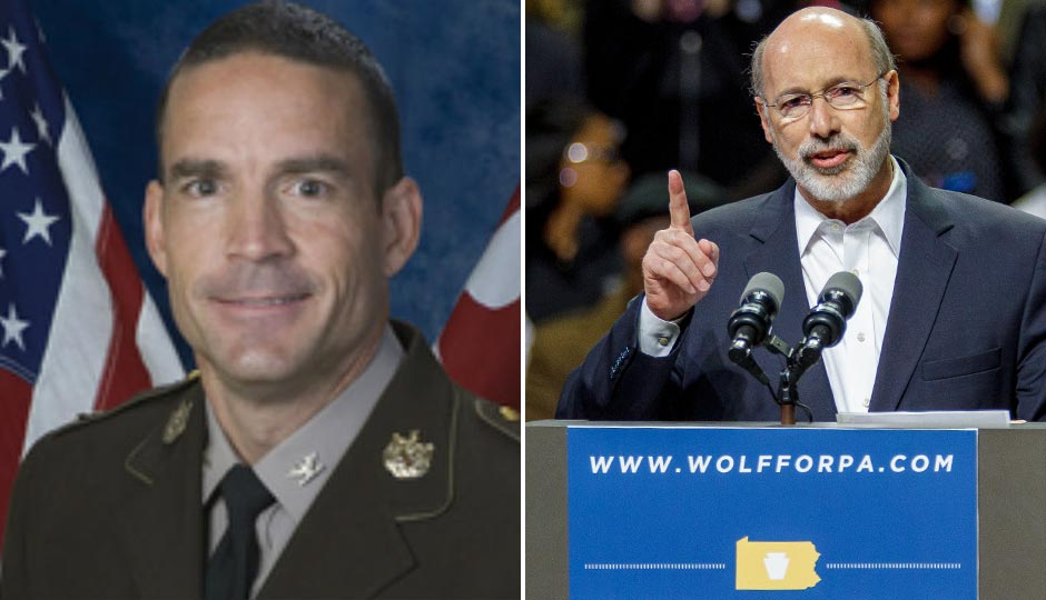Marcus Brown (left); Tom Wolf (right, photo by Jeff Fusco).