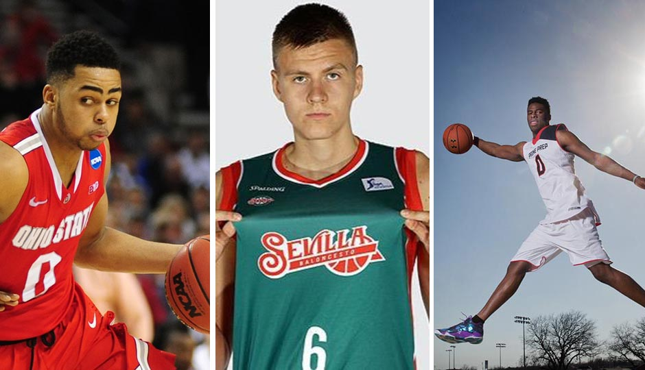 D'Angelo Russell (Godofredo Vasquez, USA Today Sports) | Kristaps Porzingis (Twitter) | Emanuel Mudiay (Kevin Jairaj, USA Today Sports)