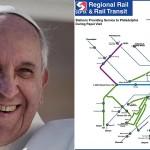 Pope Francis|  giulio napolitano / Shutterstock.com. Map | SEPTA