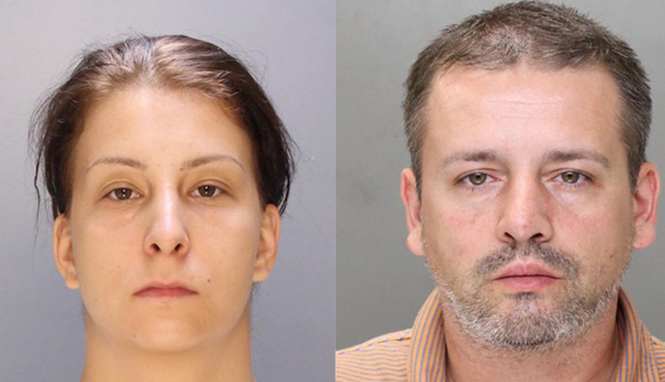 Aura Voicu (left) and Silviu Serban (right) have been arrested.
