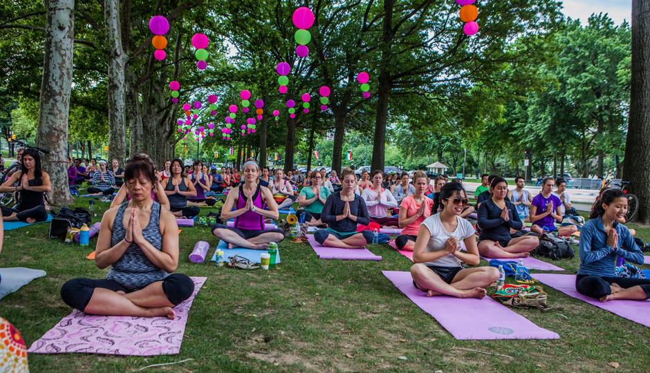 Yoga Mala at Lemon Hill | Photo via Facebook