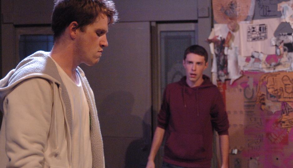 McLucas with cast member Samuel Fineman as Darren