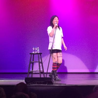 Cho performing at Borgata.