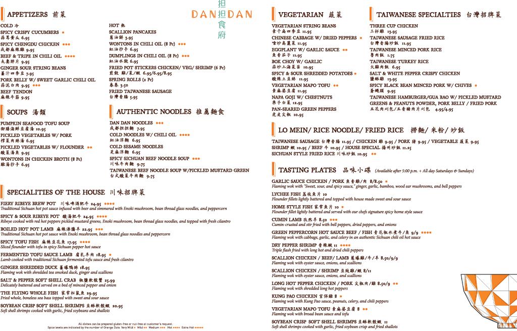DanDan Dinner Apps and Specialties