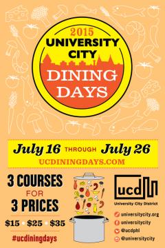 University City Dining Days 2015