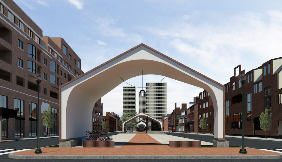 Conceptual design of the new-look Headhouse Square | Renderings via Ambit Architecture and South Street Headhouse District