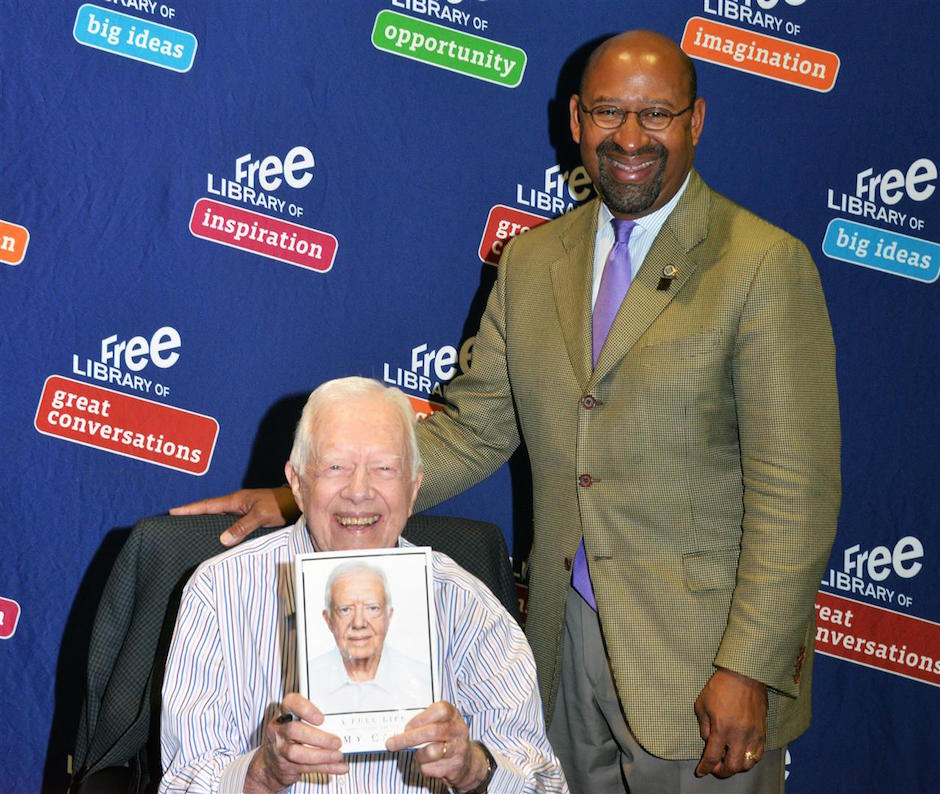 Jimmy Carter and Mayor Michael Nutter