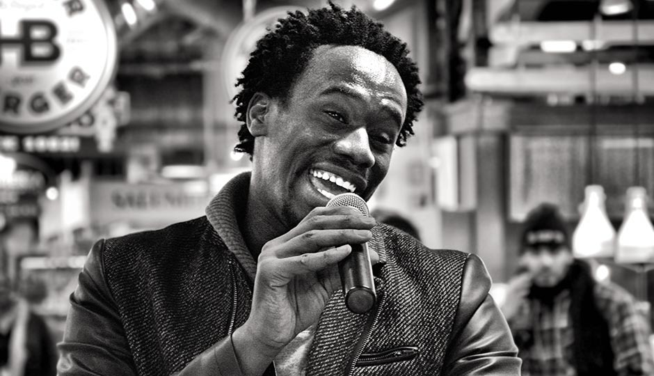 Anthony Riley at the Reading Terminal Market in February, one day after leaving rehab. Photograph by Robby Parsons