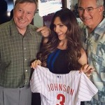 Meisha Johnson made an appearance Wednesday on the Phillies pregame show on SportsRadio 94WIP with Michael Barkann and Ray Didinger. Photo, courtesy of CBS3.