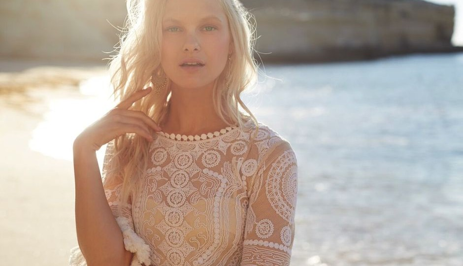The Lea Tunic from BHLDN's capsule honeymoon collection.