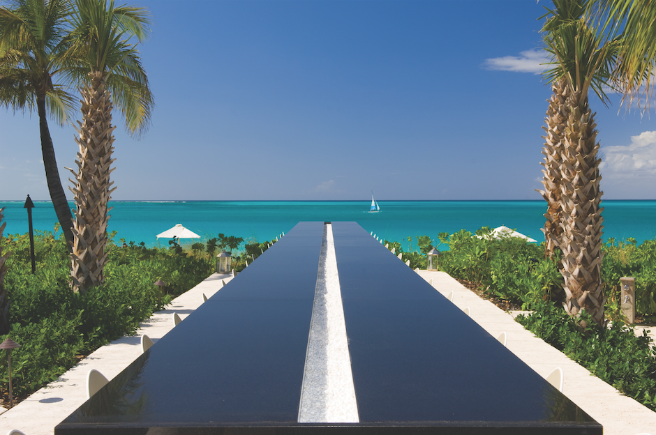 The Infinity Bar at Grace Bay Club