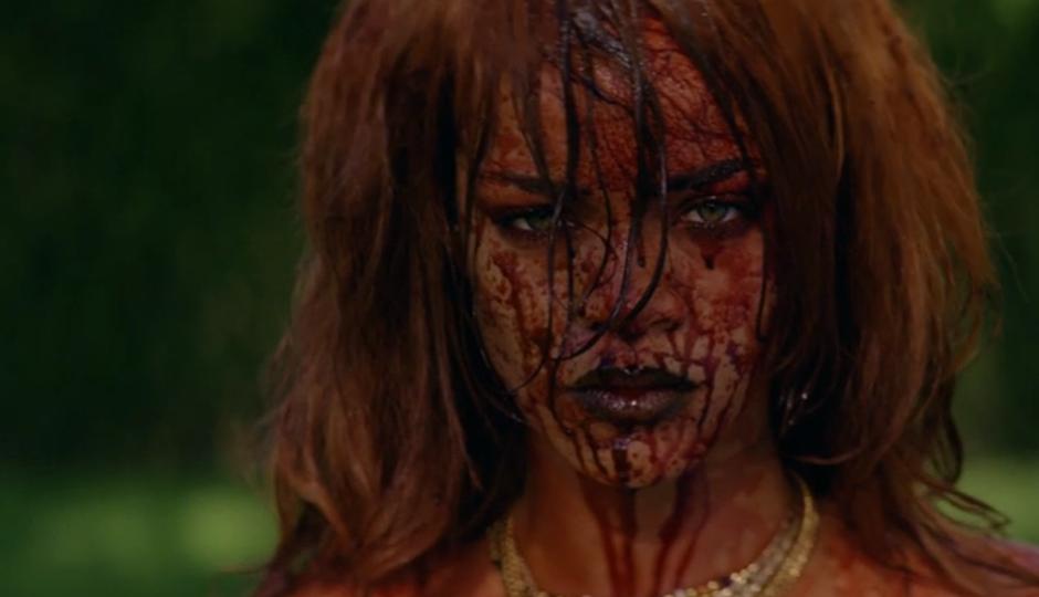 "A shot from Rihanna's ""Bitch Better Have My Money"" video."