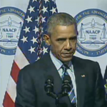 President Obama speaks Tuesday to the NAACP.