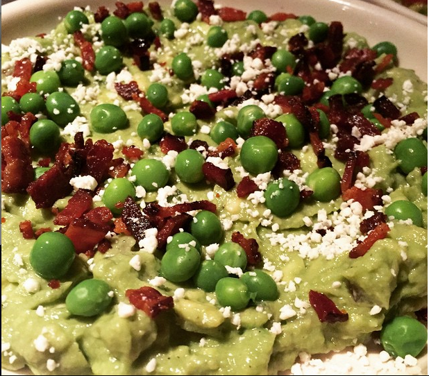 Bacon and spring pea guacamole at Lolita.