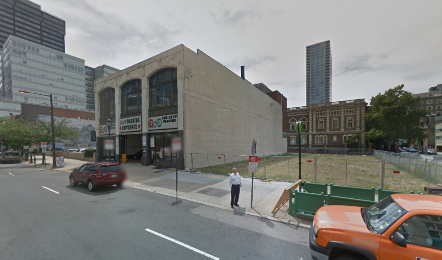 Brandywine Realty Trust purchased a swath of land that includes the site of the deadly building collapse near 22nd and Market | Google Street View