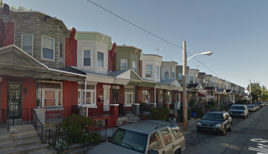 Affordable rowhomes in West Philadelphia. | Google Streetview