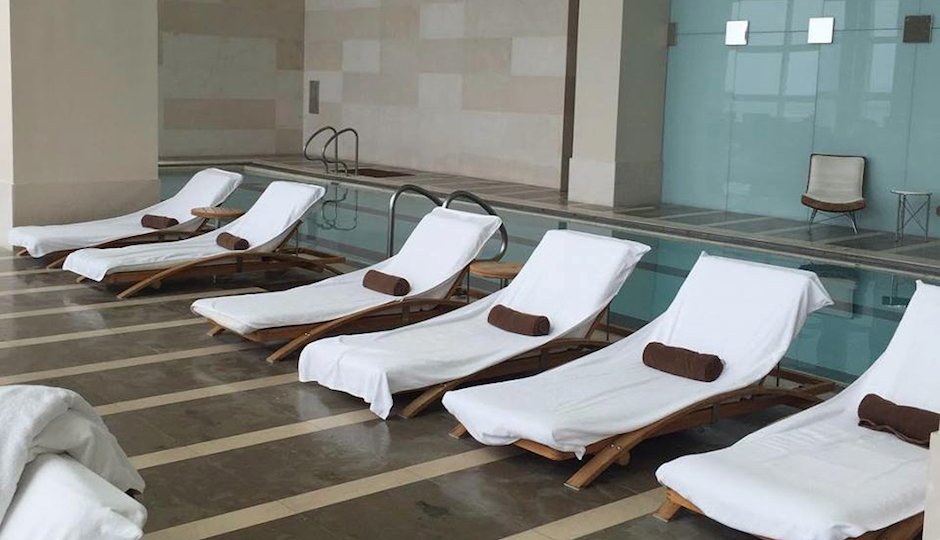 The pool at Immersion Spa.