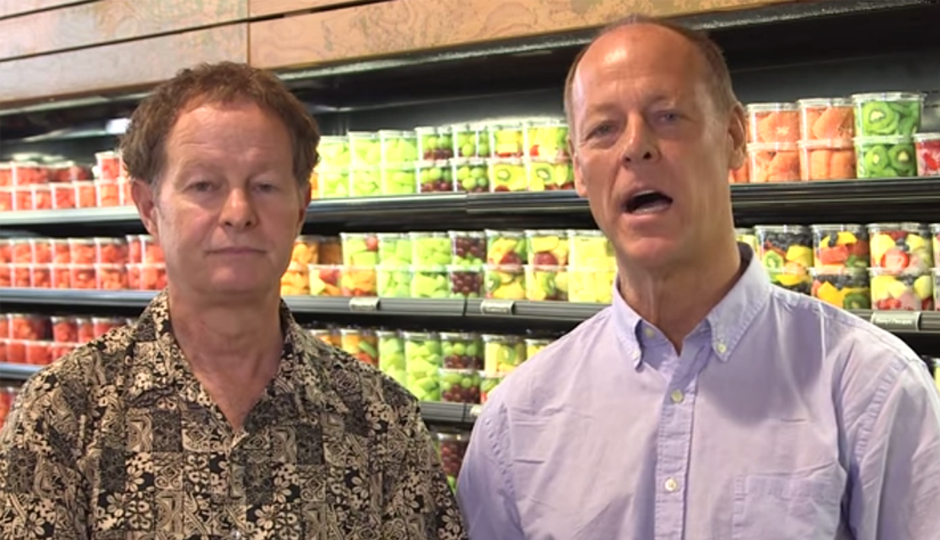 Whole Foods co-CEOs John Mackey and Walter Robb.