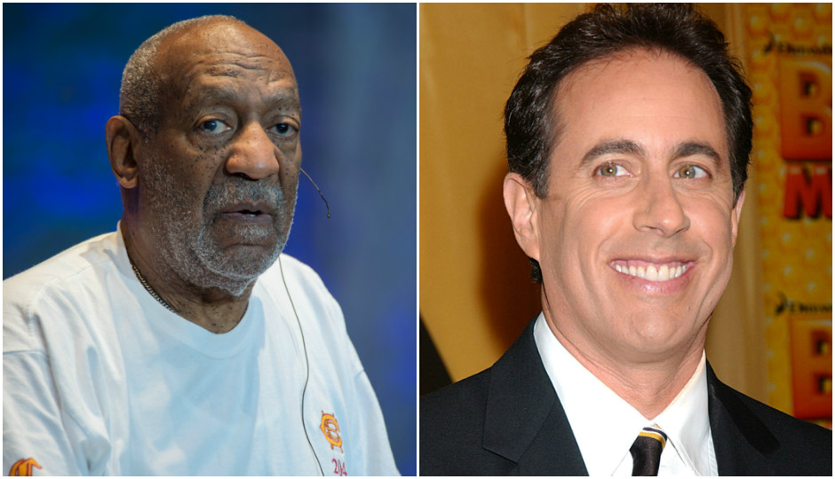 Bill Cosby (Randy Miramontez / Shutterstock.com) and Jerry Seinfeld (Everett Collection / Shutterstock.com)