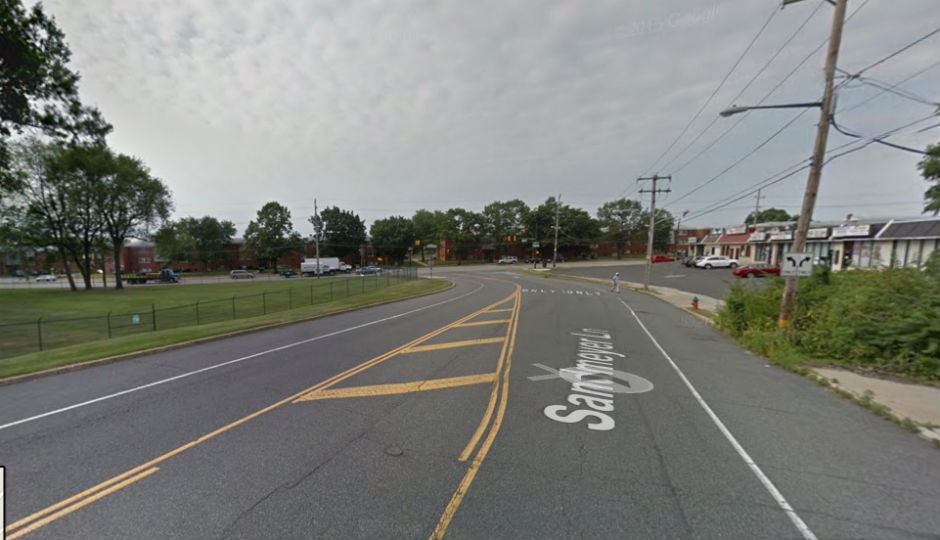 Sandmeyer Lane near Red Lion Road, the reported area of the crash. Photo | Google Street View