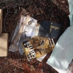 A bible at a homeless camp. Photo by Liz Spikol, 2014.