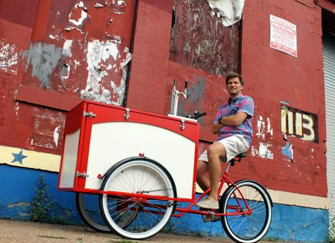 HubBub co-owner Drew Crockett with newest addition to HubBub Fleet| Photo courtesy: HubBub Coffee