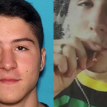 Left, the mega-brained Connor Kennedy smirking for his Winslow Police Department mugshot. Right, Connor Kennedy in one of the photos obtained by police via his Tumblr account.