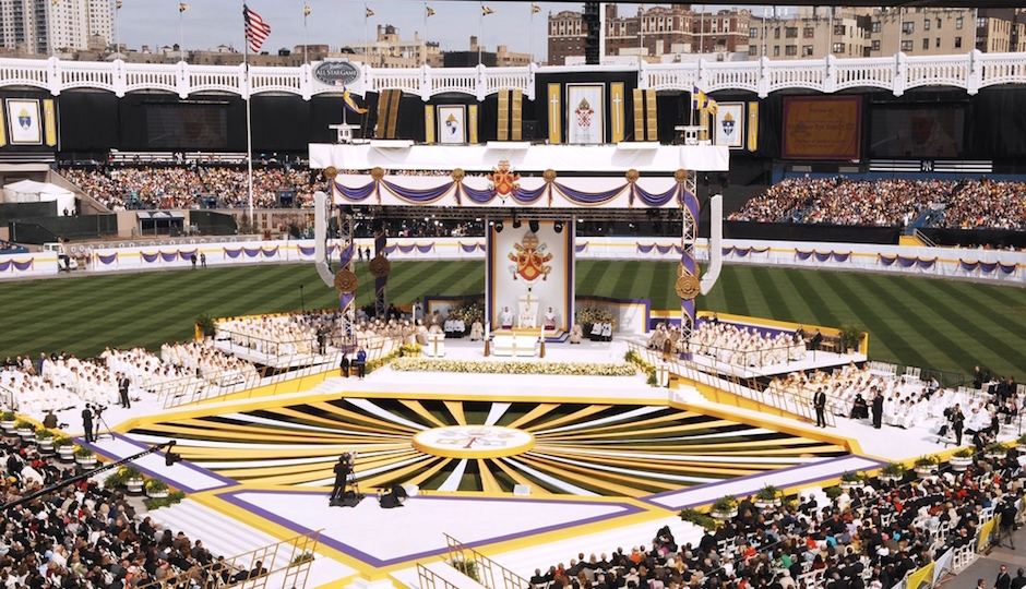 Pope Benedict celebrated Mass at Yankee Stadium in 2008. He did it the easy way.| Shutterstock.com
