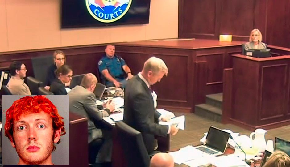 In this image taken from video, Dr. Raquel Gur, right, gives testimony during James Holmes' trial, in Centennial, Colo., Monday, July 6, 2015. Gur, a nationally known schizophrenia expert took the stand in James Holmes' defense Monday. (Colorado Judicial Department via AP, Pool)