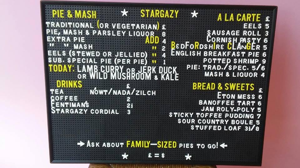 stargazy sample menu