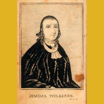 """""""Jemima Wilkinson"""" by David Hudson? - Syracuse University Special Collections - Originally from David Hudson's History of Jemima Wilkinson, a Preacheress of the Eighteenth Century, 1821. Licensed under Public Domain via Wikimedia Commons."""