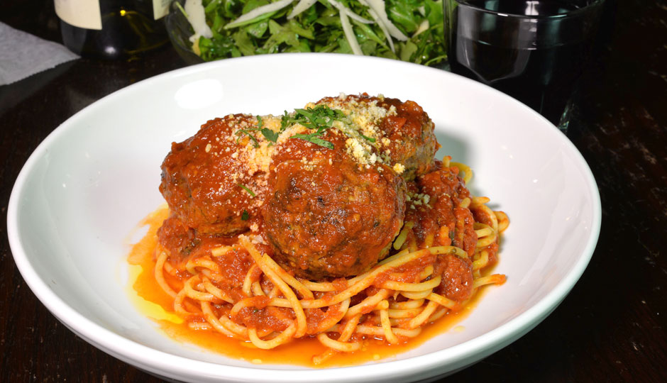 Spaghetti and Meatballs at Triangle Tavern | Photo by Jeffrey Towne