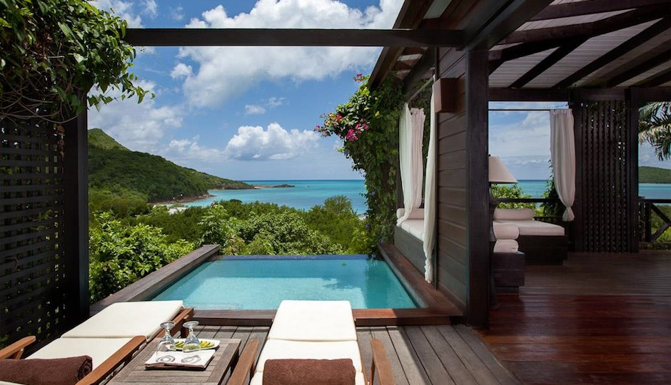 How gorgeous is this view at Hermitage Bay in Antigua? Facebook.com/hermitagebay.antigua