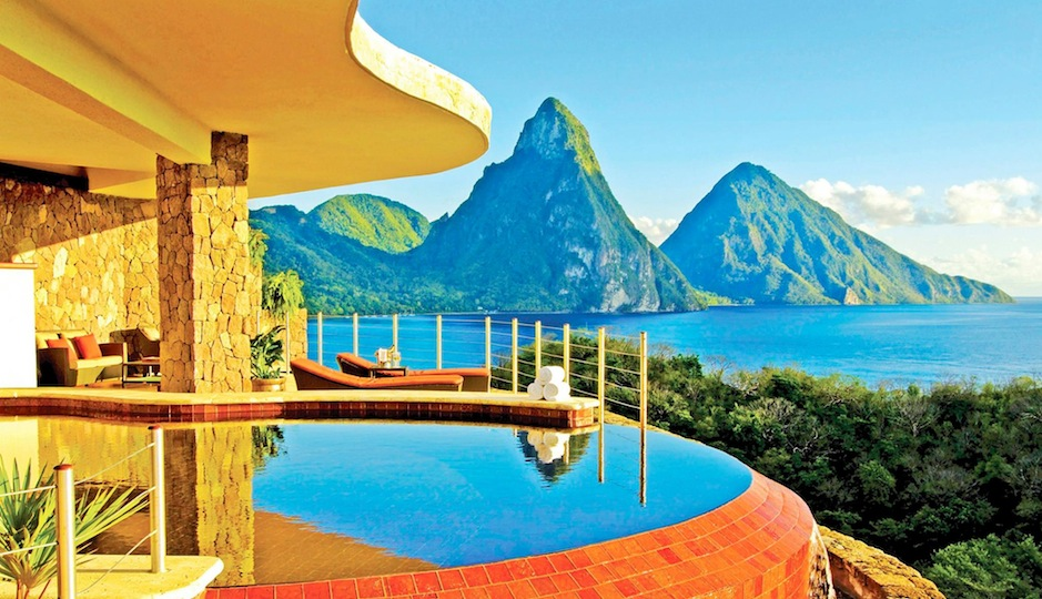 There are no words for this view from Jade Mountain in St. Lucia.