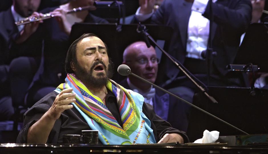 Luciano Pavarotti, via Shutterstock