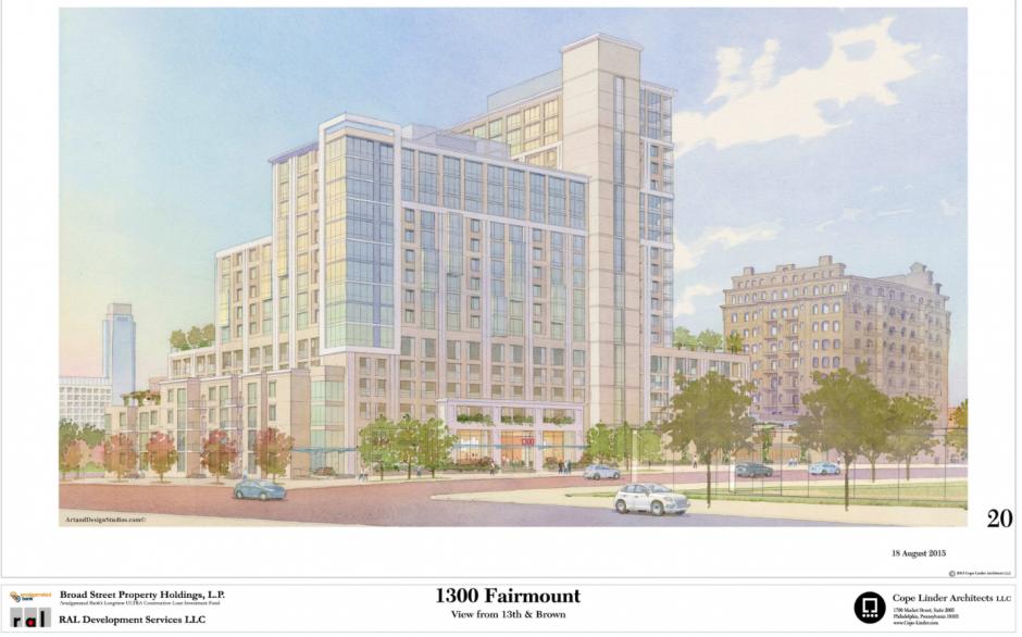 1300 Fairmount | Via Civic Design Review, RAL Development Services, Cope Linder Architects
