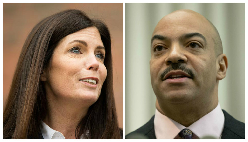 Attorney General Kathleen Kane and District Attorney Seth Williams | Photos by Matt Rourke/Associated Press