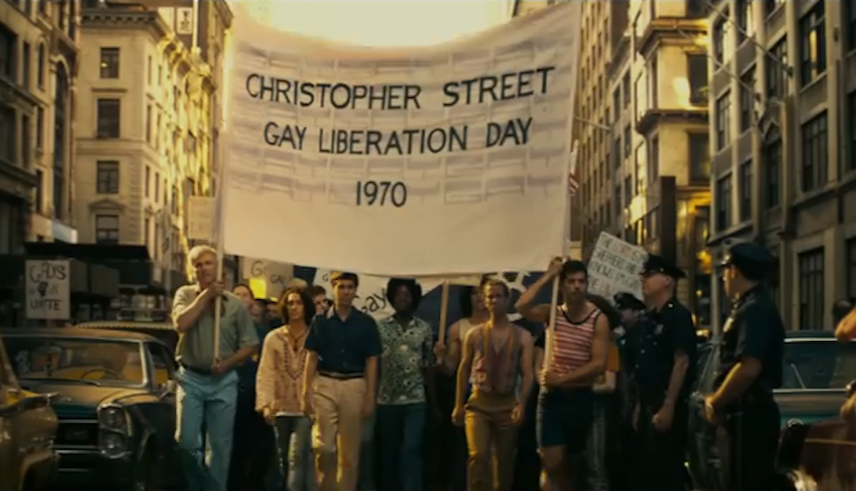 "A scene from ""Stonewall."""