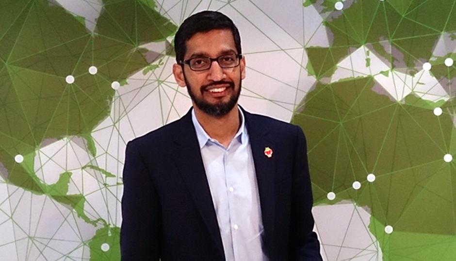 New Google CEO Sundar_Pichai. (By Maurizio Pesce from Milan, Italia (Sundar Pichai, SVP, Chrome and Apps, Google) [CC BY 2.0 (http://creativecommons.org/licenses/by/2.0)], via Wikimedia Commons)