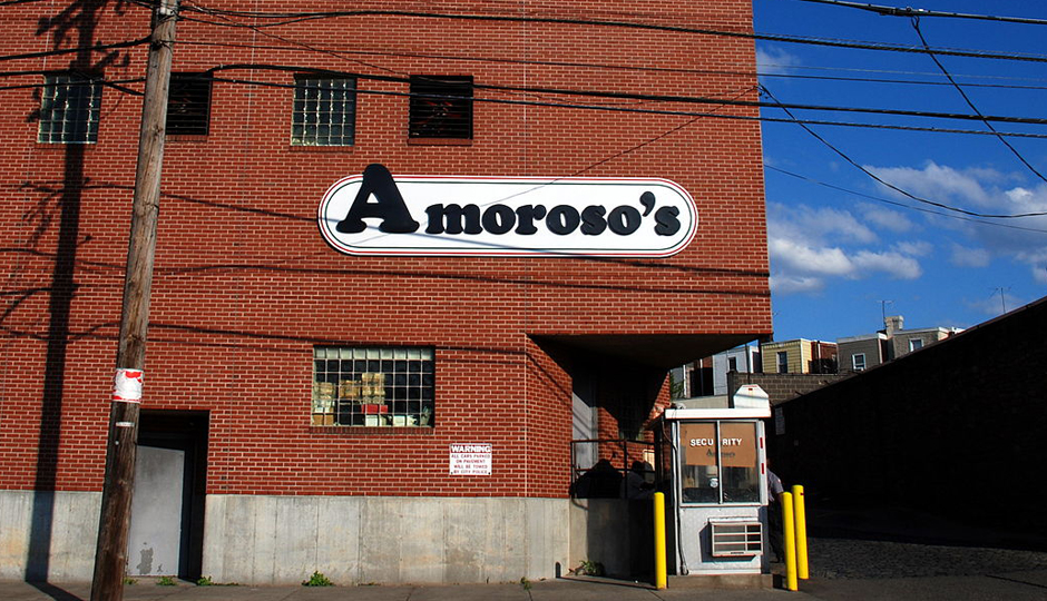 The Amoroso factory at 55th and Baltimore. (Wikis Take Philadelphia/Wikimedia)