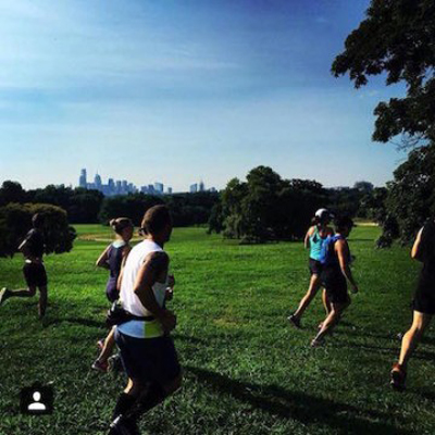 Runners at the Belmont Plateau | Photo via Philadelphia Runner