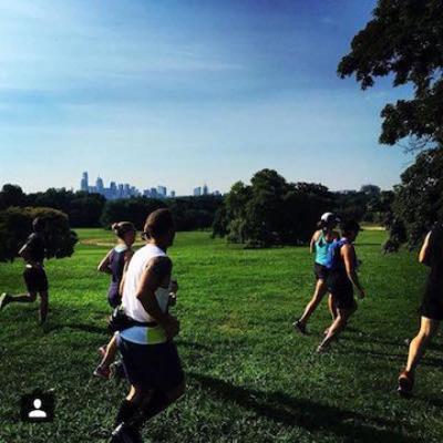Runners at the Belmont Plateau | Photo via Philadelphia Runner