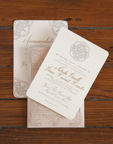 Here's one of Casa Papel's letterpress invitations.